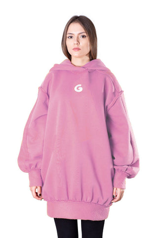 TheG Fresh Oversize Hoody Woman // old pink