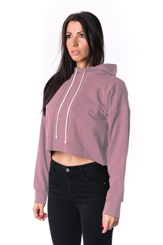 The Woman Panelled Cropped Hoody 17 // oldpink