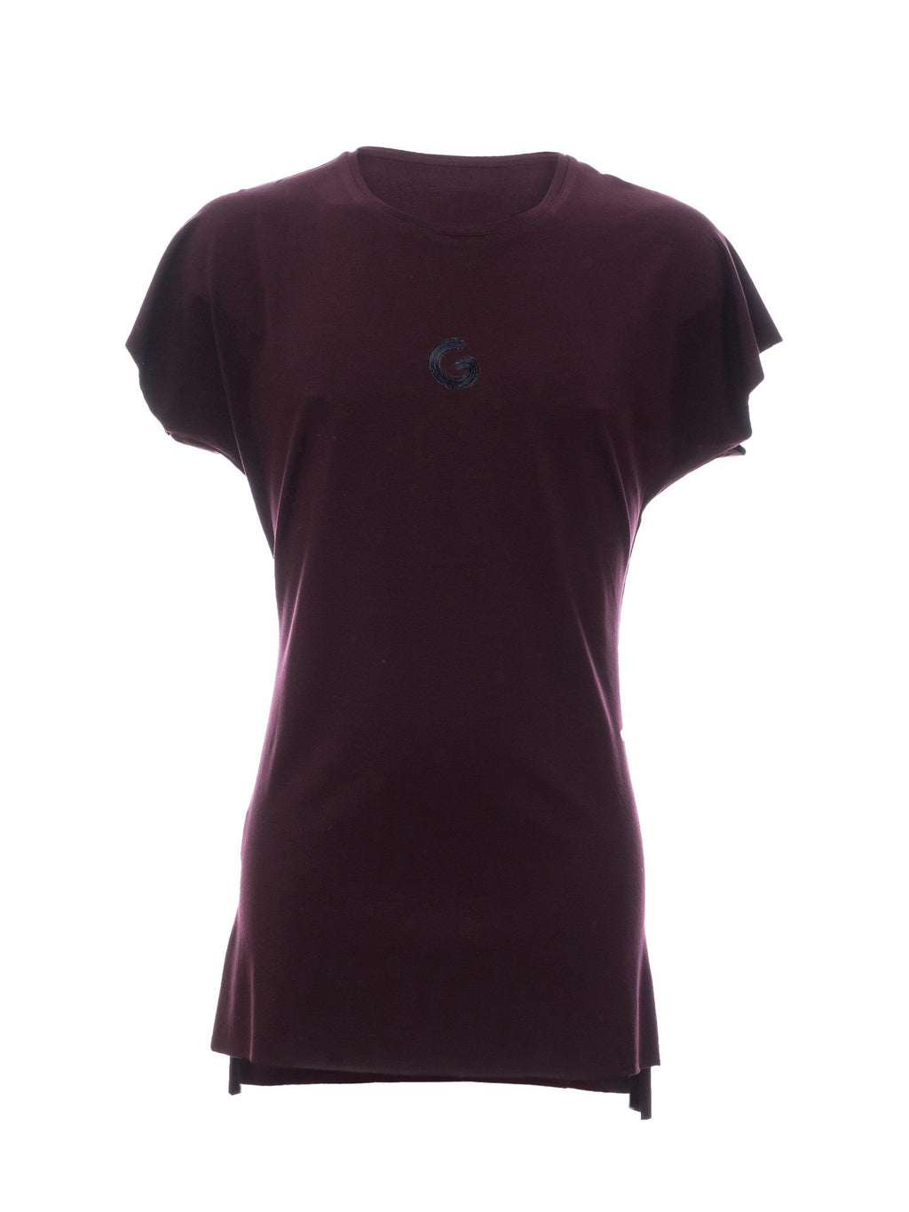 TheG Viscose Essential Short Sleeve Tee // merlot