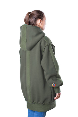 TheG Fresh Oversize Hoody Woman // military green