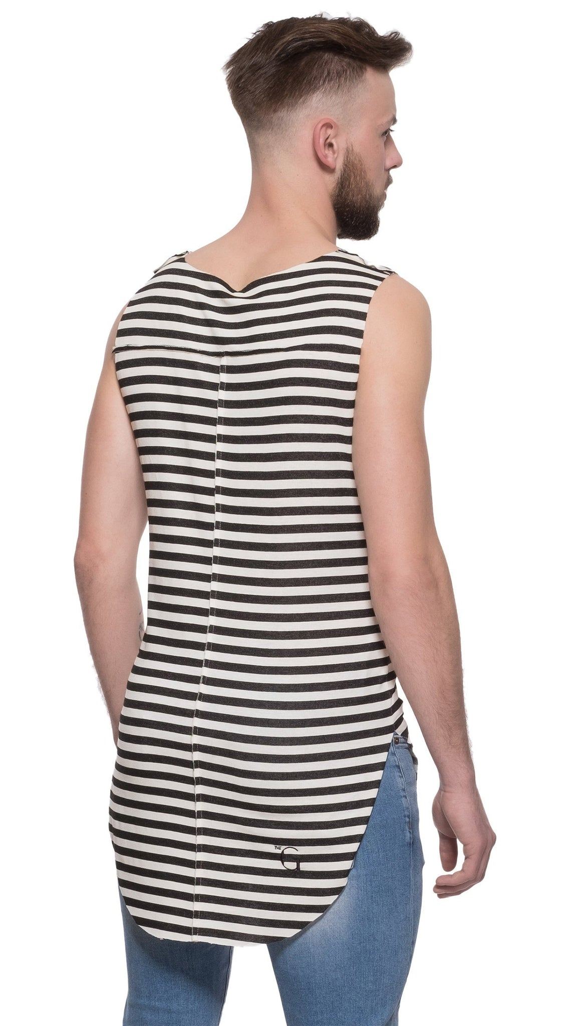 TheG Man Viscose Long Tank // striped