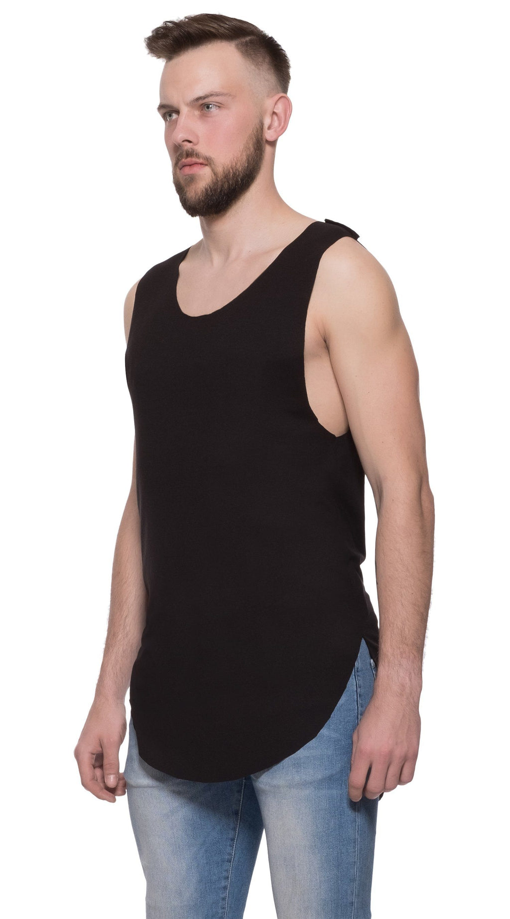 TheG Man Viscose Long Tank // black