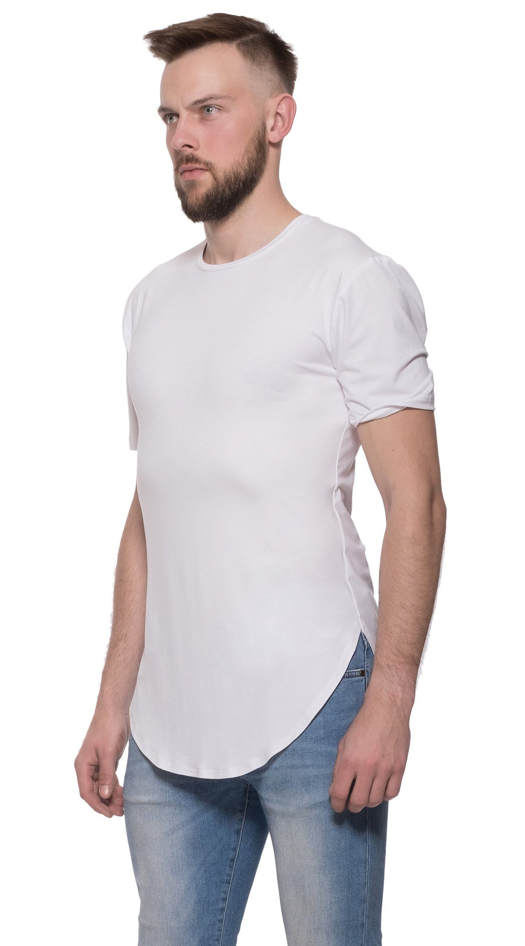 TheG Man Viscose Basic 2/2 Long Tee // white