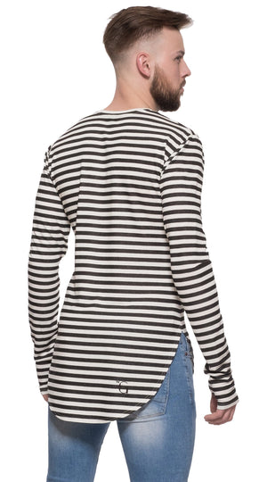 TheG Man Viscose Under Long Tee // striped
