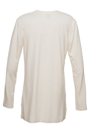TheG Man Viscose Under Long Tee // vanilla