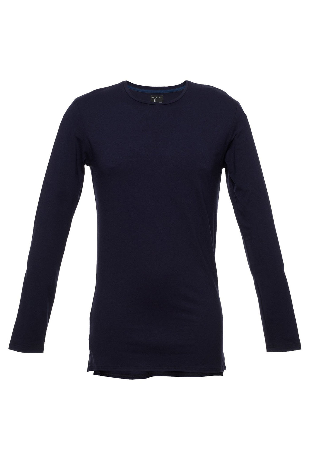 TheG viscose handmade designer under long tee navy blue