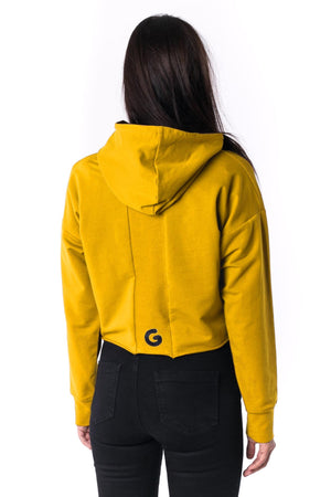 The Woman Panelled Cropped Hoody 17 // yellow
