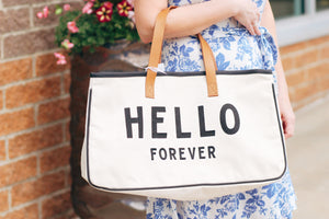 Hello Forever! The Travel Tote for Your Future!