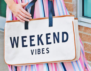 Weekend Vibes Travel Tote