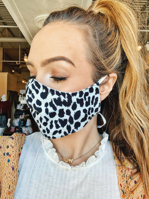 White/Black Spotted Face Mask