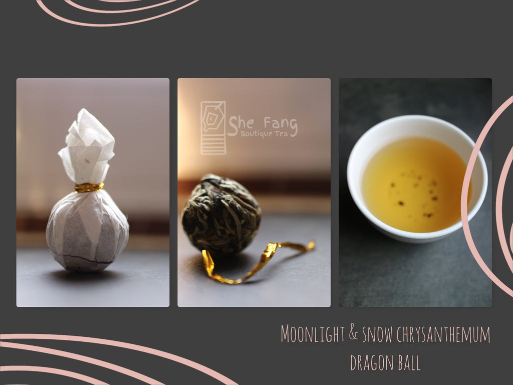 Tea Sourcing – Batch N.240 – Moonlight & Snow Chrysanthemum Buds Dragon Ball – Hand Made - She Fang Boutique Tea