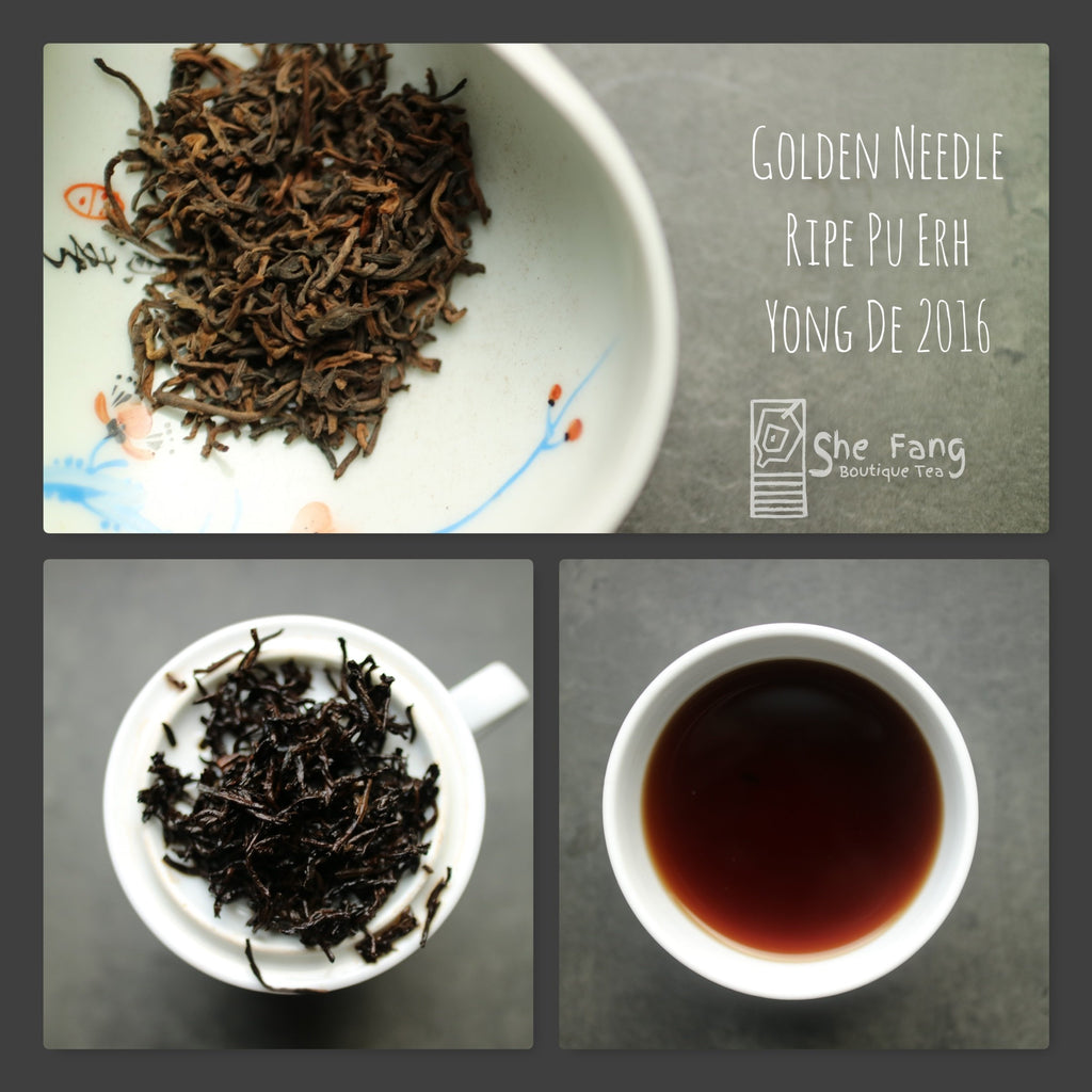 Tea Sourcing – batch N.240 Pu Erh Teas – Golden Needle Ripe Pu-Erh Yong De 2016 - She Fang Boutique Tea
