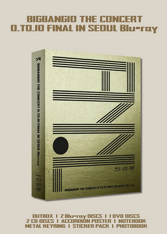 BIGBANG (빅뱅) BIGBANG10 THE CONCERT O.TO.10 FINAL IN SEOUL (2Blu-ray + DVD + 2CD) (Korean)