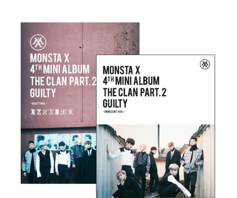 Monsta X (몬스타엑스) Mini Album Vol. 4 - The Clan 2.5 Part.2 GUILTY (GUILTY / INNOCENT Version) (Korean) RANDOM VERSION
