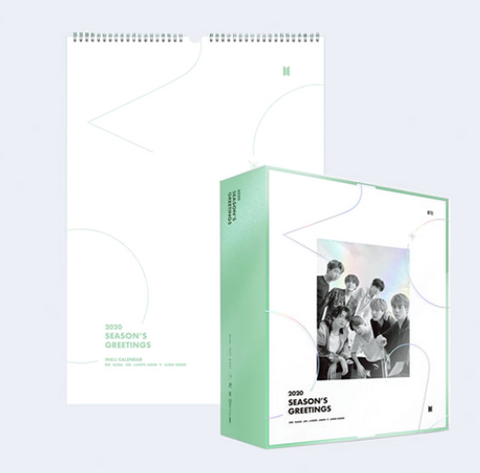 BTS - 2020 SEASON'S GREETING + 2020 WALL CALENDAR full Set (Korean Edition)(Limited Edition)