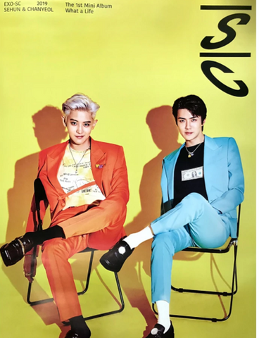 "Official Big Poster EXO-SC - ""WHAT A LIFE"""