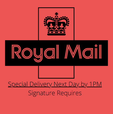 Royal Mail Special Delivery Next Day by 1pm - Extra Cost*