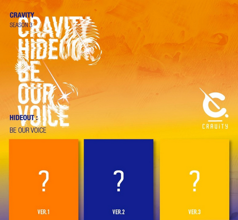CRAVITY - SEASON 3 - HIDEOUT : BE OUR VOICE (Korean Edition) PREORDER BENEFITS *
