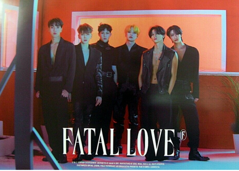 Official Big Poster MONSTA X - FATAL LOVE - A Version