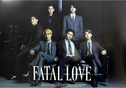 Official Big Poster MONSTA X - FATAL LOVE - B Version