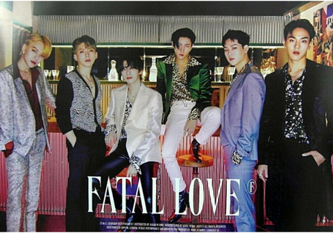 Official Big Poster MONSTA X - FATAL LOVE - C Version