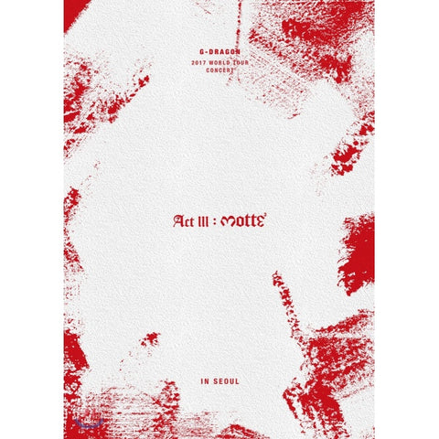 G-Dragon (지드래곤) 2017 G-DRAGON CONCERT ACT III, M.O.T.T.E IN SEOUL (2DVD+PHOTOBOOK) (Korean)