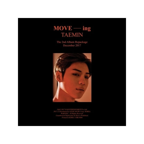 Taemin (태민) Vol. 2 Repackage - MOVE-ing (Korean)