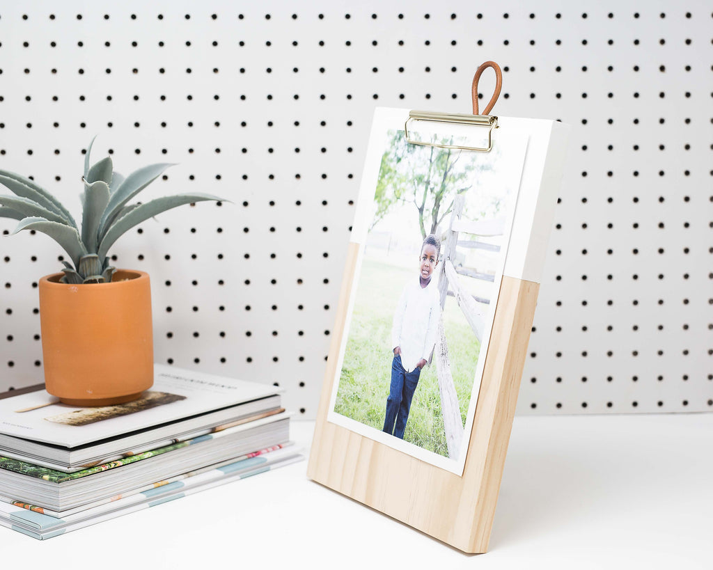 HANDMADE WOODEN CLIPBOARD
