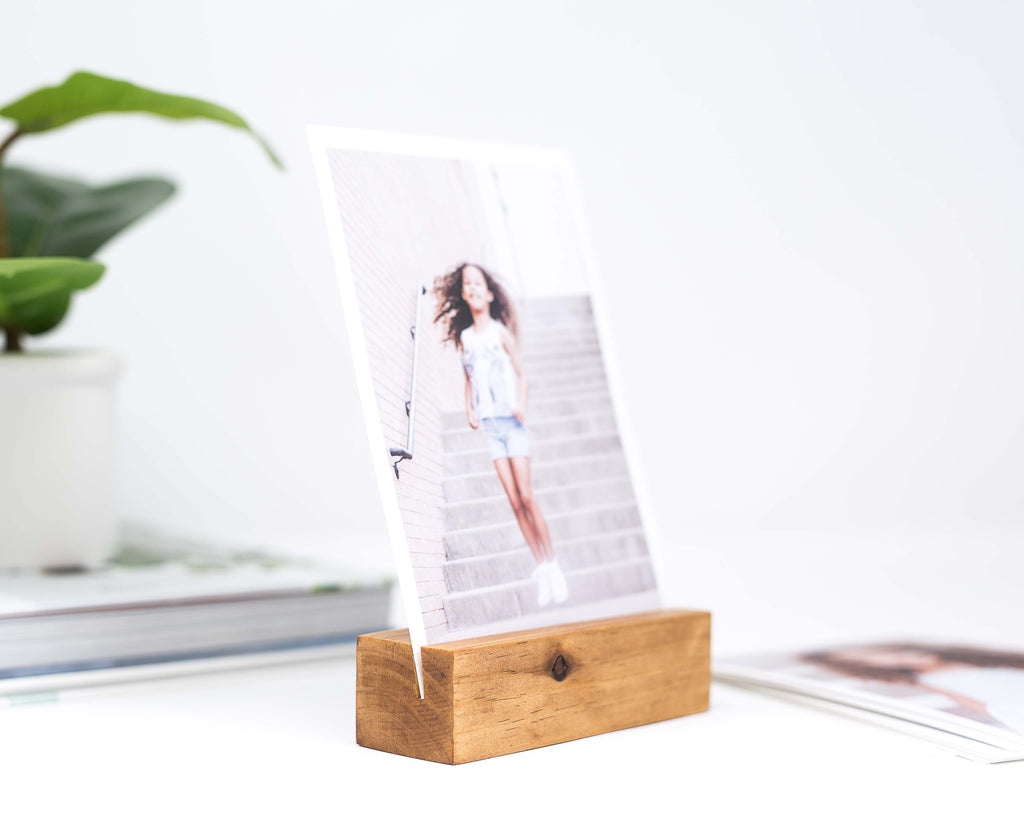 5 INCH WOODEN CARD HOLDER