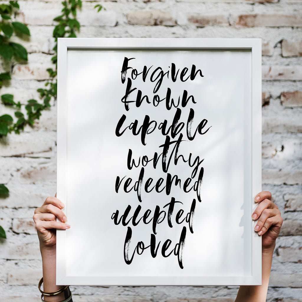 IDENTITY IN CHRIST POSTER PRINT