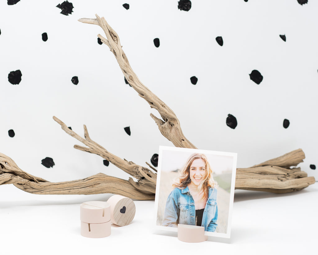 BLUSH CIRCULAR GEOMETRIC PRINT HOLDER