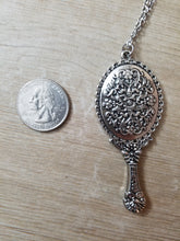 Silver Antique Hand Mirror