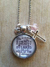 "Strenght & Dignity - Proverbs 31:25 - 1"" Round"