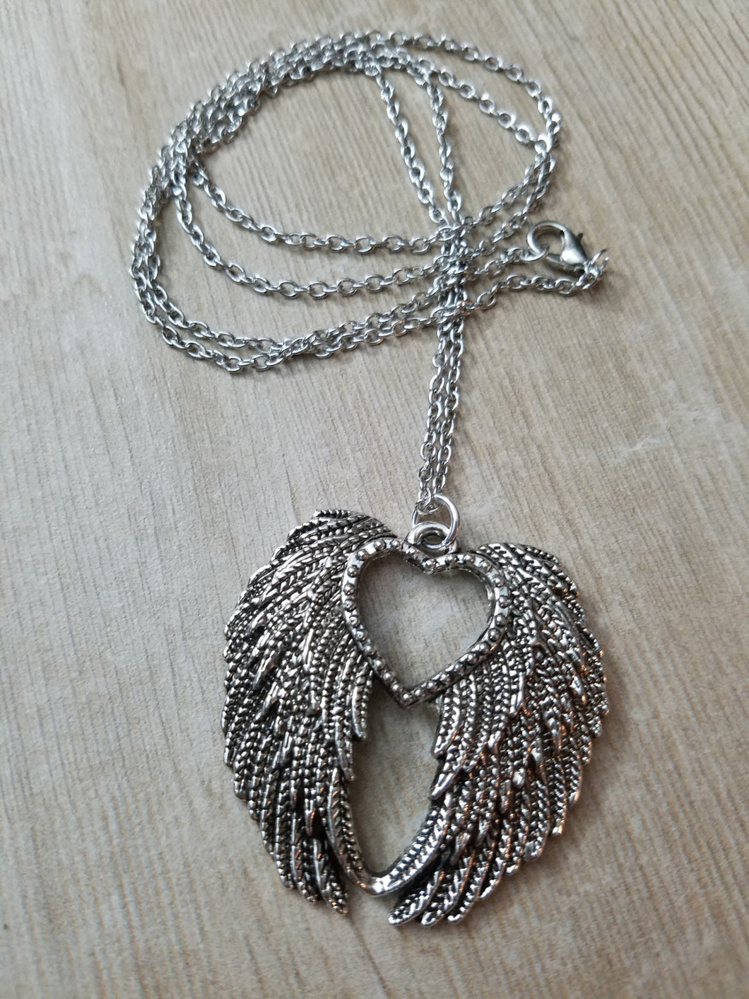 Angel heart necklace my anchored grace angel heart necklace mozeypictures Choice Image