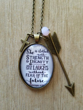 Proverbs 31:25 - Large Oval