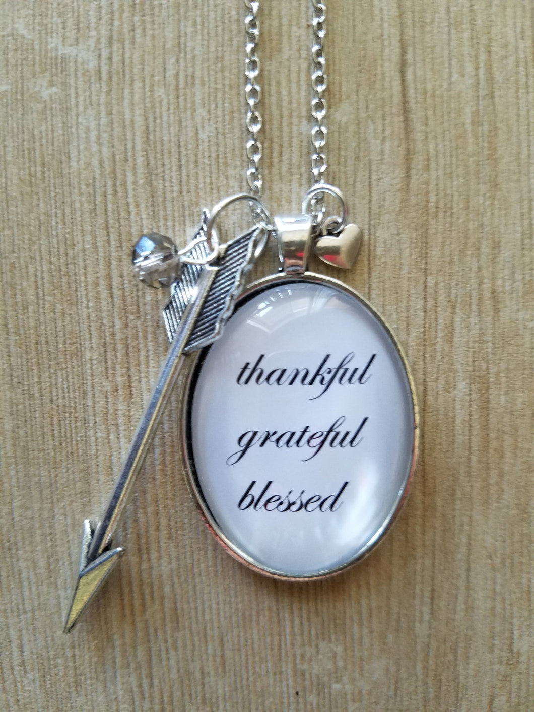 Thankful, Grateful, Blessed - Large Oval