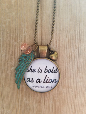She Is Bold As a Lion