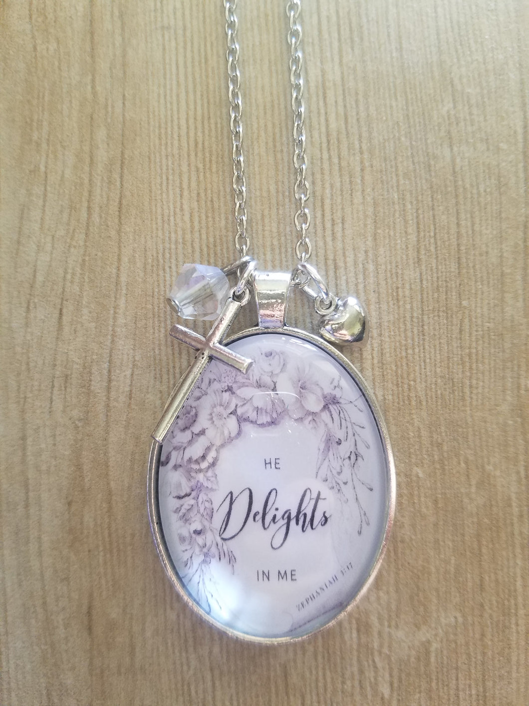 He Delights In Me - Large Oval