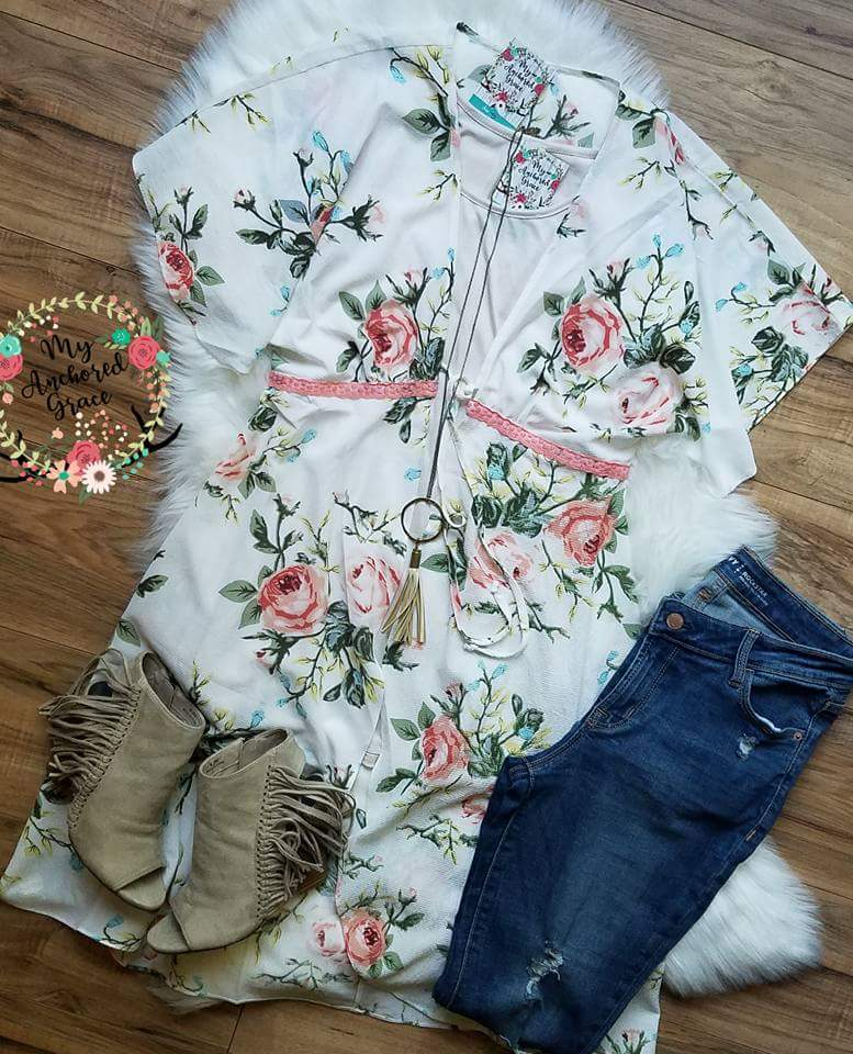 Summer's Eve Floral Duster