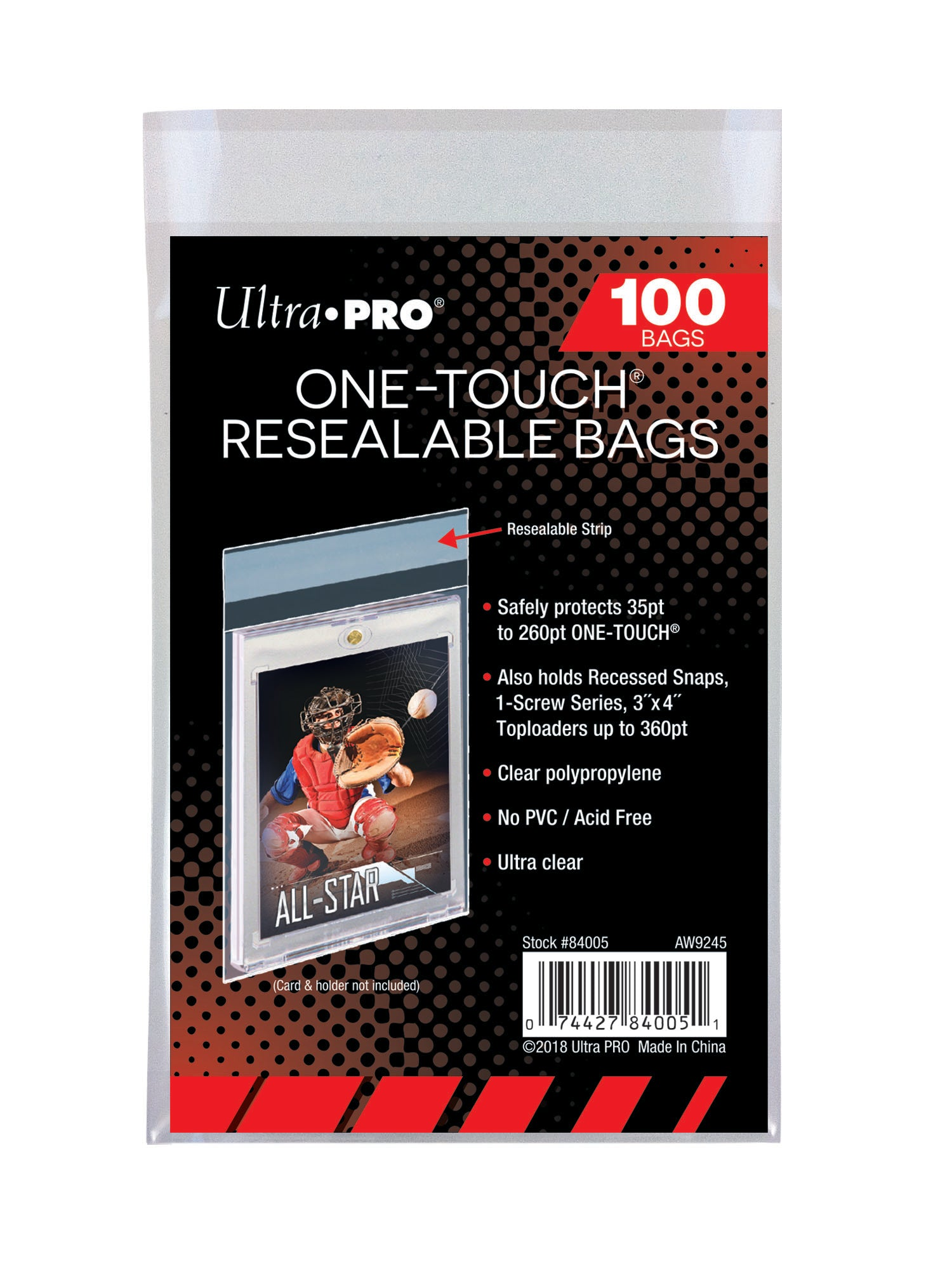 One Touch Resealable Bags
