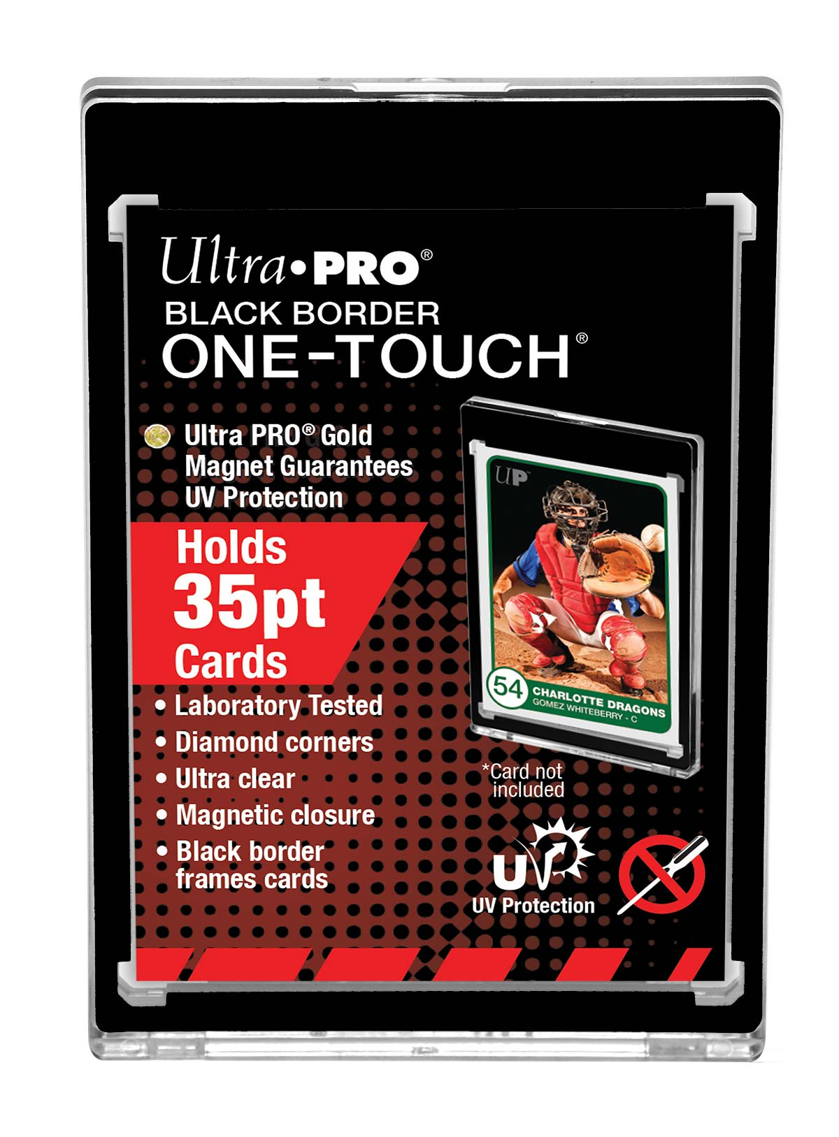 35pt Black Border One Touch Magnetic