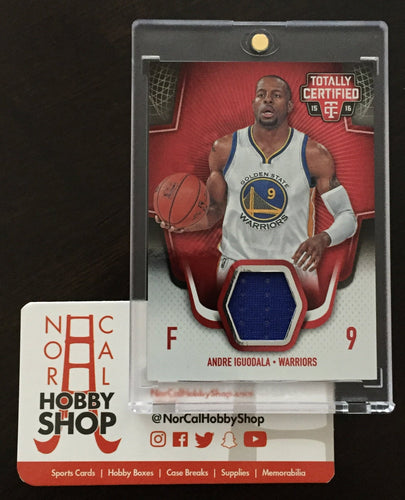 0f8be75cdbea 2015 16 Totally Certified Andre Igoudala Game Used Jersey 50 199 - Golden  State