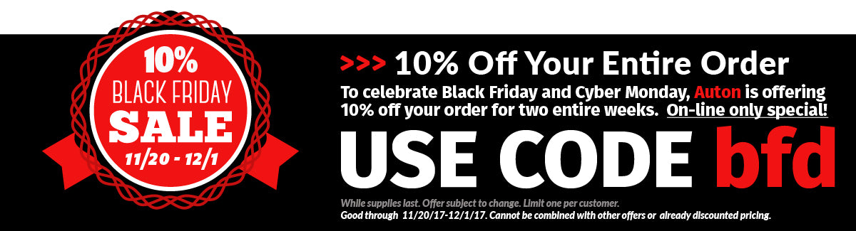 Black Friday 10% Off Special