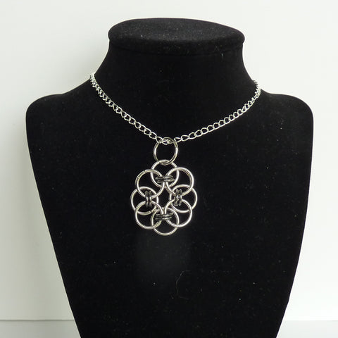 Victorian necklace, celtic necklace, steampunk necklace, chain maille, renaissance necklace, prom necklace, celtic jewelry, statement