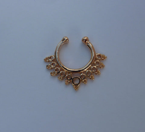 Gold Fake septum ring, fake titanium septum ring, gold fake nose ring, fake nose ring, fake septum ring, septum ring, nose ring,  G3