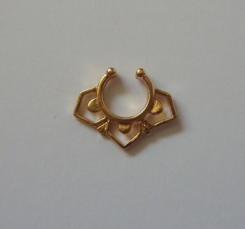 Gold Fake septum ring, fake septum ring, fake nose ring, gold fake nose ring, nose ring gold, septum ring gold, nose ring, septum ring, G11