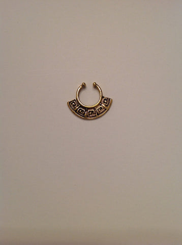 Gold Fake septum ring, fake septum ring, fake nose ring, gold fake nose ring, septum ring gold, nose ring gold, body jewerly, piercing , G28