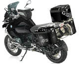 Black Rallye Union Flag Pannier Stickers