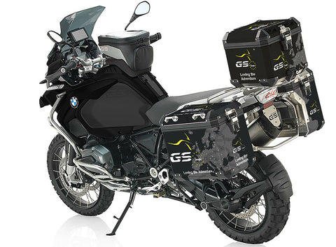 Official GS Europe Pannier Stickers - Black