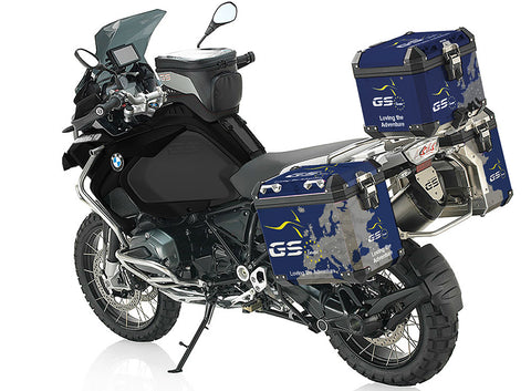 Official GS Europe Pannier Stickers - Blue